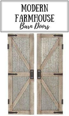 Wayfair Farmhouse Iron And Wood Interior Barn Door      #farmhousedecor #barndoors #affiliate #homedecor #modernfarmhouse