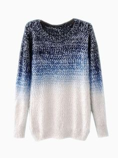 Tie-Dyeing Vintage Sweater In Blue - Choies.com Ombre Sweater 044522e53