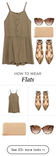 """""""leopard lace up flats"""" by kcunningham1 on Polyvore featuring Zara, Ambra, Kate Spade and Chloé"""