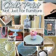 annie sloan chalk paint it s not just for furniture, chalk paint, crafts, painted furniture, A collage of the many things I ve painted with chalk paint