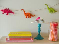DIY Crafts: A Neon Animal Garland by Erin Loechner