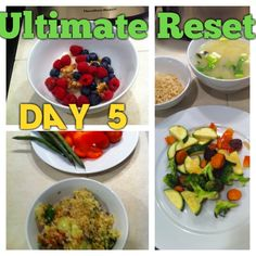 Ultimate Reset Day 5- Down 3 lbs total. Was feeling really cold, had some cravings, but the cooking was pretty straighforward (except for a rice cereal mishap, lol). #weightloss #vegan #detox #cleanse