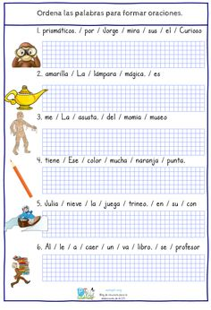 Spanish Worksheets, Spanish Teaching Resources, Preschool Literacy, Preschool Worksheets, Short Stories To Read, Spanish Lessons For Kids, Learning Time, School Items, Math For Kids