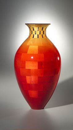 'Tall Vase with Open Segment Neck' - by Joel Hunnicutt, Wood Artist ~ Wooden Art, Wooden Bowls, Segmented Turning, Wood Turning Projects, Lathe Projects, Keramik Vase, Wood Lathe, Router Wood, Cnc Router