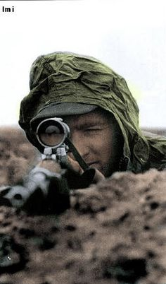 German sniper................................the lens optical is from leica factory the best brand quality for sure , but the gun is not a mauser ? or else what .................................