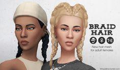 Sims 4 CC's - The Best: Braid Hair for Females by KhrysaSims