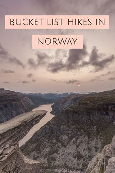 A travel guide to some of the best hikes in Norway including Preikestolen, Trolltunga and a few other unknown yet beautiful hikes! Hiking Norway, Hiking Europe, Norway Travel, Travel Europe, Cool Places To Visit, Places To Travel, Travel Destinations, Vacation Places, Trondheim