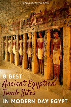 The best ancient necropolises in modern Egypt to see the funeral art and hieroglyphics of these Ancient Egyptian tombs. Ancient Egyptian Tombs, Ancient Egyptian Religion, Egyptian Temple, Ancient Tomb, Egypt Travel, Africa Travel, Pyramid Of Djoser, Modern Egypt, Africa Destinations