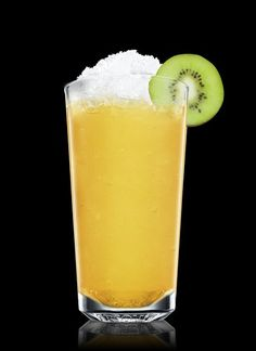 Green Spree - Fill a shaker with ice cubes. Add all ingredients. Shake and strain into a chilled highball glass filled with crushed ice. Garnish with kiwi. 2 Parts Absolut Vodka, 2 Parts Apple Juice, Fresh Pressed, 1 Part Lemon Juice, 1 Part Simple Syrup, 1 Slice Kiwi