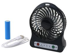 Rechargeable Portable Fan - Includes 2 hour rechargeable battery and USB connection. Comes with LED light Latest Gadgets, Cool Gadgets, Technology Gifts, Portable Fan, Desk Fan, Gadget Gifts, Corporate Gifts, Usb, Connection
