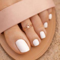 Toe Nails White, Nail Ink, Pura Vida Bracelets, Wave Ring, Wave Design, Toe Rings, Silver Roses, Rose Gold Plates, Or Rose