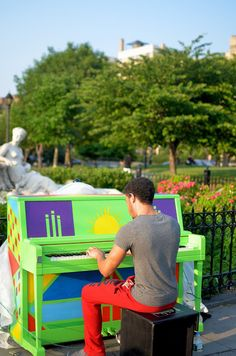 2015 Sing for Hope Piano placed in Joyce Kilmer Park