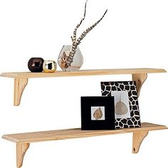 Buy Set of 2 Wooden Shelves - Unfinished Pine at Argos.co.uk - Your Online Shop for Wall mounted shelves.