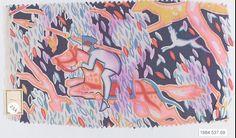 Textile sample  Designer:Dagobert Peche (Austrian, St. Michael im Lungau 1887–1923 Mödling bei Wein) Manufacturer:Wiener Werkstätte Date:ca. 1920 Medium:Silk Dimensions:5 1/4 × 9 1/2 in. (13.3 × 24.1 cm) Classification:Textiles-Printed