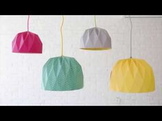 How to Fold a Large Origami Lampshade - YouTube