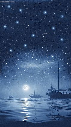 """Rain of stars"" Hong Kong bay, photo by Chinese photographer FAN HO (born Fan Ho, Illustrations, Illustration Art, Urban Life, Colorful Drawings, Stars And Moon, Night Skies, Shades Of Blue, Shanghai"