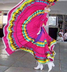 Stunning Jalisco Folklorico Skirtwork