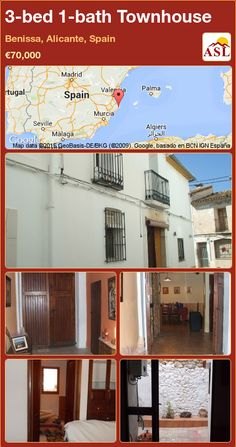 Townhouse for Sale in Benissa, Alicante, Spain with 3 bedrooms, 1 bathroom - A Spanish Life Murcia, Small Courtyards, Alicante Spain, Lounge Areas, New Kitchen, Townhouse, Entrance, Spanish, Patio