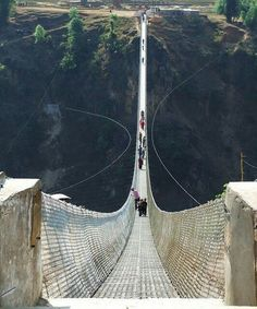 Kushma, Gyadi suspension bridge Nepal