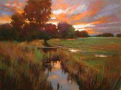 "AutumnSkagitFields_LR by Teresa Saia Pastel ~ 18"" x 24"""