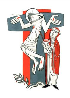 Work by Martin Erspamer---my favorite illustrator and sacred artist --- clip arts --- Image from http://cdn.aquinasandmore.com/images/items/liturgical-press-altar-missal-art-sample.jpg.