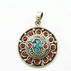 Mosaic Turquoise Tiles Silvertone Jewelry Nepal Fashion Pendants Jewellry Gift Jewelry Trends, Pocket Watch, Latest Fashion, Fashion Jewelry, Pendant Necklace, Turquoise, Accessories, Style, Swag