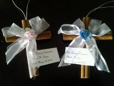 Made for Alexia's and Guero's First Communion from cinnamon sticks from Michael's and decorated with theme colors,,,,
