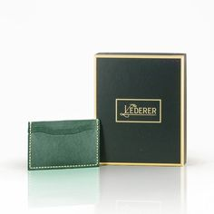 Double 4 Card Holder。Leather Stitching - The Lederer - DIY Kits Diy Kits, Card Holder, Packing, Stitch, Pocket, Wallet, Cards, Leather, Bag Packaging