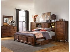The Wolf Creek Collection adds rustic beauty to your home with its unique hand scraping and Vintage Acacia finish. Unlimited amounts of storage capacities and hidden media functions throughout the bedroom pieces will create a bedroom that is free of clutter and full of serenity. Item may not be stocked as shown. Please call for …