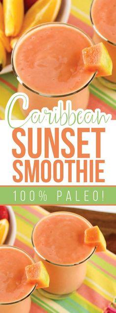 Paleo Caribbean Sunset Smoothie Recipe