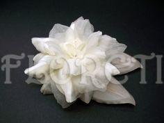 Antique White Couture Camellia Bridal Dress Pin Wedding Accessory | Floreti - Wedding on ArtFire. weddings, accessories, hair, hat, dress, clutch, white, camellia, fabric flower, satin, chiffon, wedding dress pin, bridal accessory ArtFire wedding team. $69.26