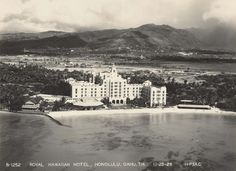 Royal Hawaiian Hotel, Waikiki Beach, 1928.