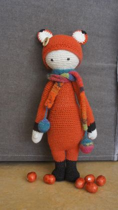 FIBI the fox made by Karin D. / crochet pattern by lalylala