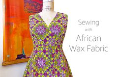 African Real Wax Floral Fabric Cotton Womens Wedding Dress Clothing Sewing DIY