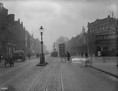 The Old Kent Road in S.E. London c.1931. Idea to frame old photos of cities from 50+ years ago as decoration