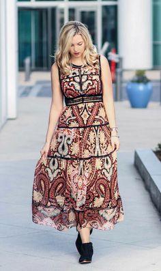 b700df5125 Western Night  Maxi Dress… Girl Blog