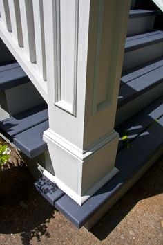 outdoor newel post | Edgewater Front Porch, Rails and Newel Posts ...