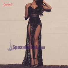Spaghetti Straps Sparkly See-through Sexy Mermaid Modest Prom Dresses, Evening party dress, PD0610 Vegas Club Dresses, Clubbing Dresses, Glam Dresses, Elegant Dresses, Pretty Dresses, Homecoming Dresses, Sexy Formal Dresses, Black Sparkly Dress, Dress Black
