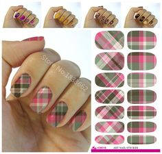 [Visit to Buy] New fashion water transfer foil nail stickers all kinds of nail art design patterns fashion decorative decal K601 #Advertisement