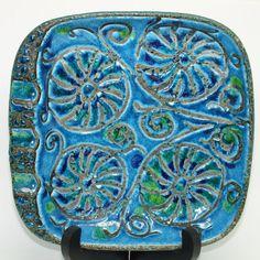 Vintage Bitossi Aldo Londi Rimini Blue Ashtray Mid Century Italian Art Pottery #Bitossi #MidCenturyModern