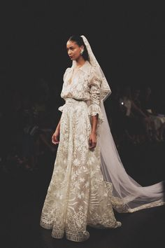 Best of Bridal Fashion Week: Naeem Khan Wedding Dress Collection 2017 - - We're kicking off our Bridal Fashion Week coverage with a look at the new Naeem Khan wedding dress collection, with photographs by Claire Eliza from NYC. Naeem Khan Wedding Dresses, Naeem Khan Bridal, Rustic Wedding Dresses, Wedding Dress Trends, Wedding Gowns, Lace Wedding, Wedding Ideas, Bridal Outfits, Bridal Dresses