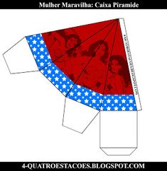 Kit festa infantil mulher maravilha, completo gratuito Beach Mat, Outdoor Blanket, Wonder Woman, Party, Birthday, Women, Birthday Woman, 3d Paper Crafts, Party Kit