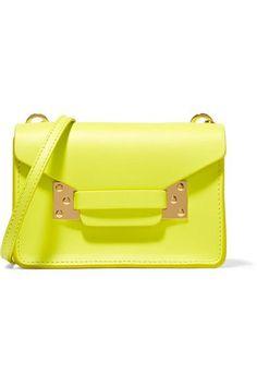 SOPHIE HULME Milner nano neon leather shoulder bag