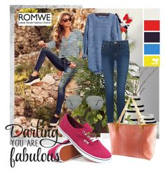 """""""romwe"""" by sejla15 ❤ liked on Polyvore featuring Kähler, Nearly Natural, Frame Denim, Vans, Ray-Ban and romwe"""