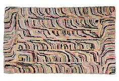"Hand-hooked Vintage Geometric Rug, wool, 3'3"" x 2' on OneKingsLane.com  Era:  1920 -1950 $ 495"