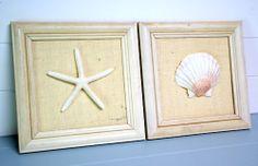 DIY Beach Decor: Frames, Burlap and Sea Shells... easy enough!