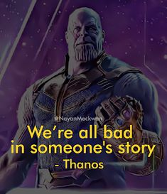 This is unfortunately true, no matter who you are. Thanos had that right. Avengers Imagines, Avengers Quotes, Marvel Quotes, Joker Quotes, Marvel Memes, Movie Quotes, War Quotes, Thanos Avengers, Avengers Cast