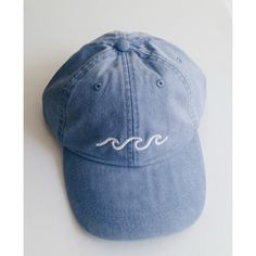 52a96ca3d68 Etsy の Three Waves Baseball Cap Periwinkle by staticsound