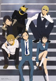 Download DURARARA!!: Durarara Gang on the Stairs (3262x4656) - Minitokyo
