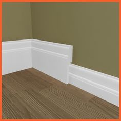 Our Asmara 3 MDF skirting board cover (skirting covering skirting) is an great way to modernise your skirting without removing your existing skirting. Torus Skirting, Skirting Board Covers, Stairs Skirting, Floor Skirting, Floor Trim, Floor Edging, Architrave, Coving, Wall Colors